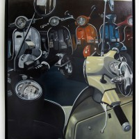 Scooter gang 130x100cm