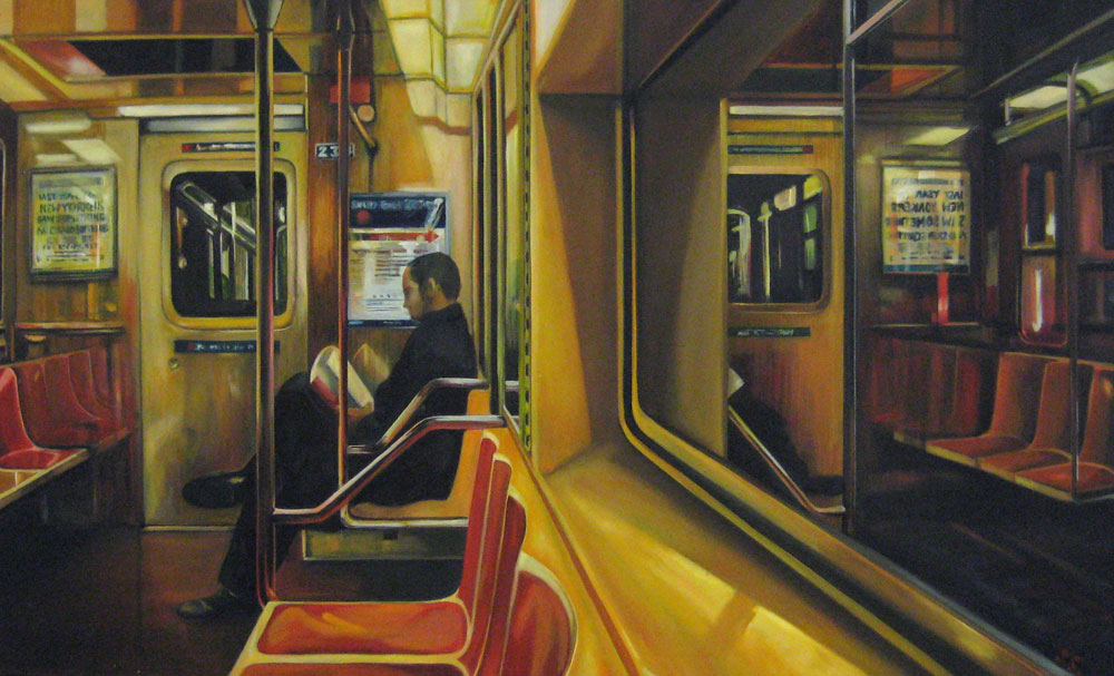 Subway 100x70cm by shane sutton